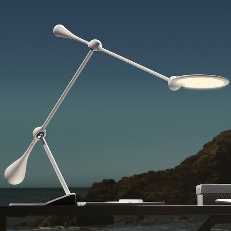 Trapeze LED Table Lamp // Double Arm