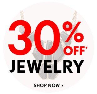 30% Off Jewelry