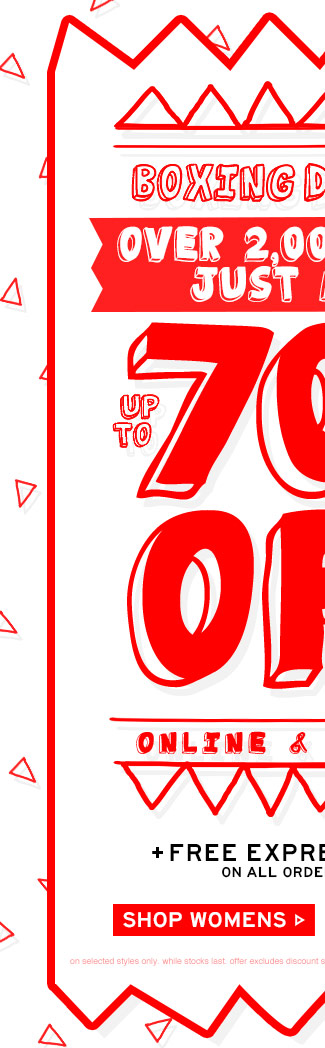 Shop Womens Boxing Day Sale