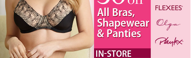All bras, shapewear and panties
