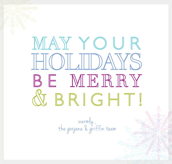 Happy Holidays from g&g