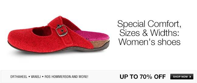 Special Comfort, Sizes and Widths: Womens shoes