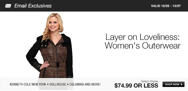 Layer on Loveliness: Womens Outerwear