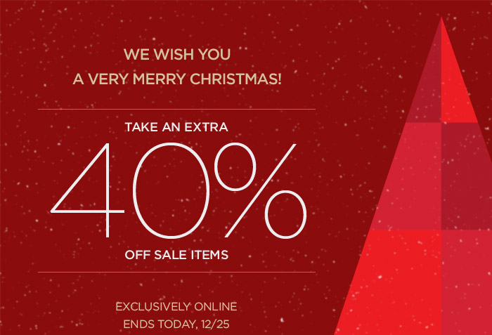 TAKE AN EXTRA 40% OFF SALE ITEMS
