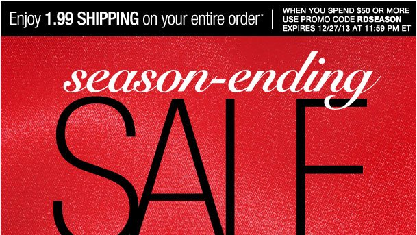 Season ending Sale! Savings up to 80%!