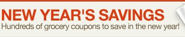 New Year's Savings Hundreds of grocery coupons to save in the new year!
