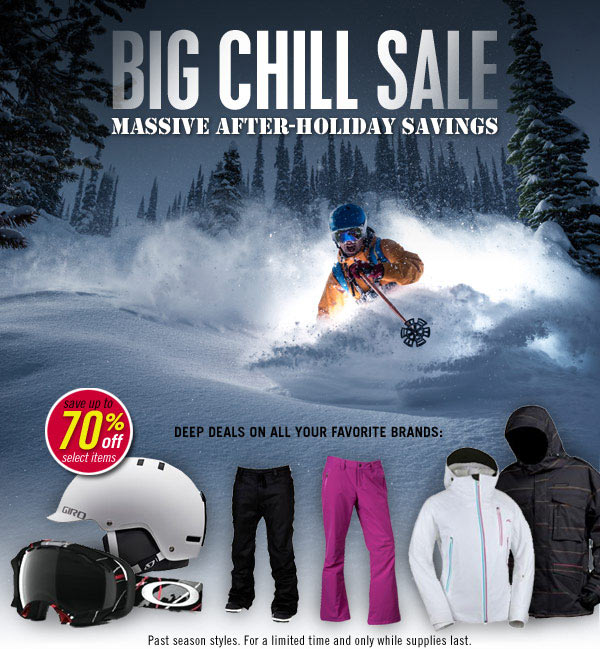 Big Chill Sale!