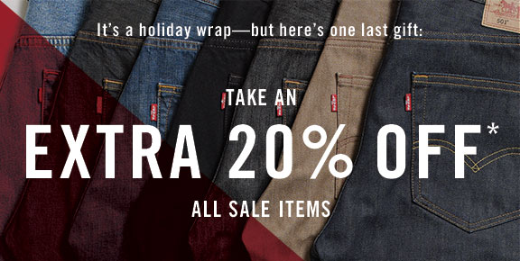 It's a holiday wrap - but here's one last gift: take an extra 20% off all sale items