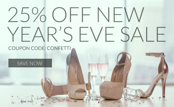 Save 25% Off with Coupon Code CONFETTI. Complete Your Sexy NYE Ensemble Before the Ball Drops!