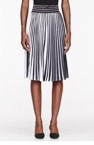 CHRISTOPHER KANE Black & White pleated skirt for women