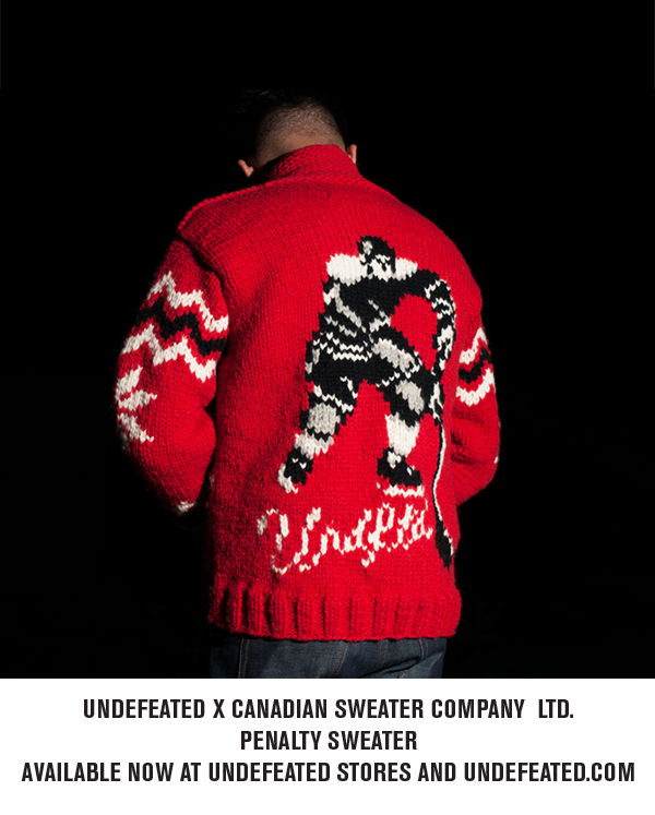 Canadian Sweater Company LTD X Undefeated: Penalty Sweater Available Now At Undefeated Stores and Undefeated.com