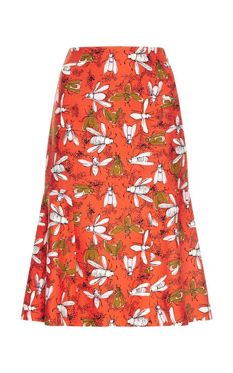 Bee Family Gathering Print Skirt