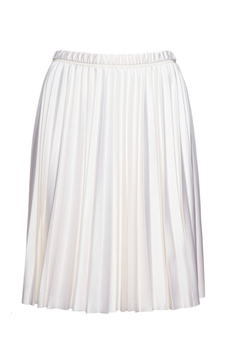 Silk-Jersey Sunburst Pleated Skirt
