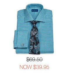 Houndstooth French Cuff Dress Shirt