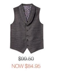Velvet Shawl Collar Vest