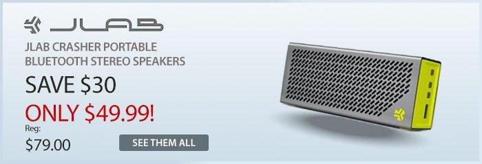 Adorama - Jlab Crasher Portable Bluetooth Stereo Speakers