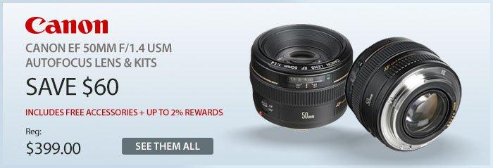 Adorama - Canon 50mm Autofocus lens & kits