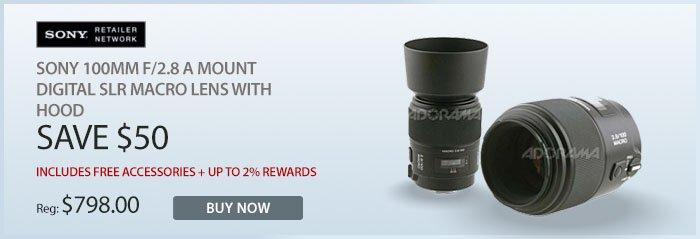 Adorama - Sony 100mm macro lens with hood
