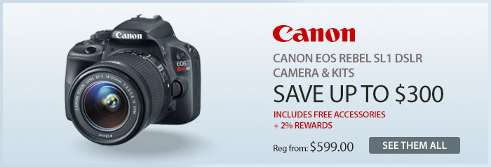 Adorama - Canon EOS Rebel SL1 DSLR Camera & Kits