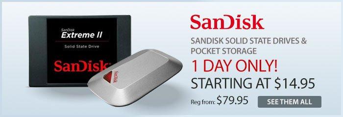 Adorama - SanDisk Solid state drives & pocket storage