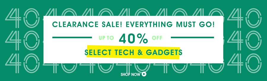 Clearance Sale! 50% Off Select Tech & Gadgets
