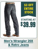 Mens 20X and Retro Jeans