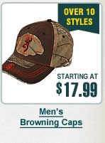 Mens Browning Caps