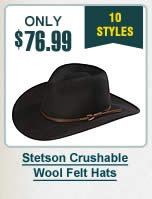 Stetson Crushable Wool Felt Hats
