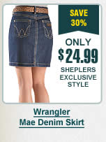 Womens Wrangler Denim Skirt
