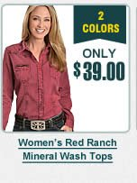 Womens Mineral Wash Tops
