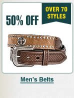 Half Off Mens Belts