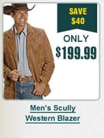 Mens Scully Western Blazer