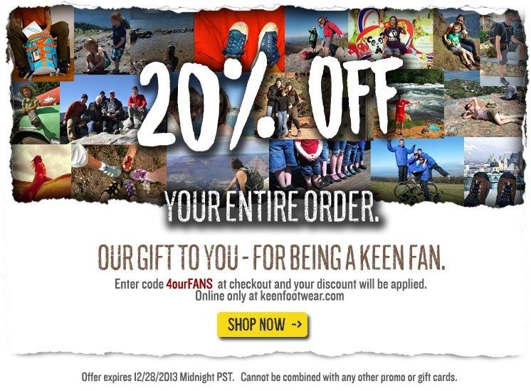 20% OFF YOUR ORDER ONLINE!