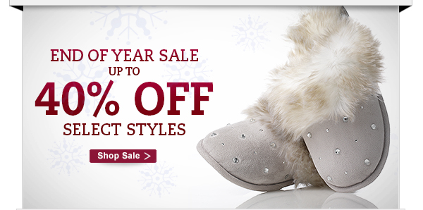 End of year sale up to 40% OFF select styles