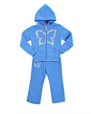 Coney Island Girl's Butterflies Jacket & Pants Set