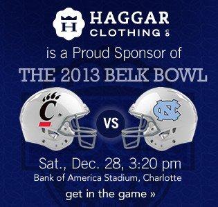 Belk Bowl. Get in the game.