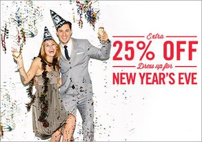 Shop Extra 25% Off: Dress Up for NYE
