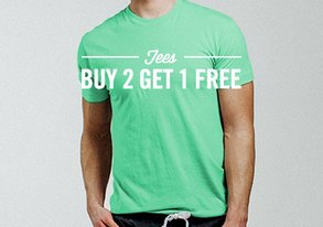 Shop Buy 2 Get 1 Free: Basic Tees