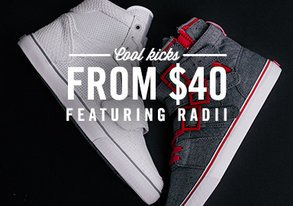 Shop Cool Kicks from $40 ft. Radii