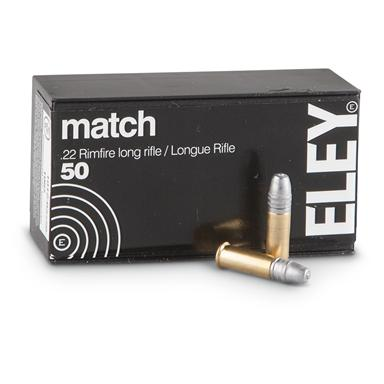 50 rds. Eley® Match .22 LR 40 Grain Lead Flat Nose Ammo
