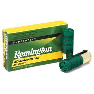 "Remington® Express® Managed-Recoil™ Buckshot 12 Gauge RL12BK00 2 3/4"" 00 Buckshot 8 Pellets 5 rounds"