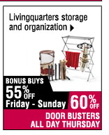 60% off LivingQuarters storage and luggage