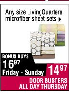 14.97 Any size LivingQuarters microfiber sheet sets