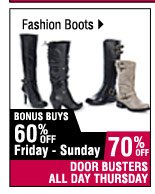70% off Fashion boots