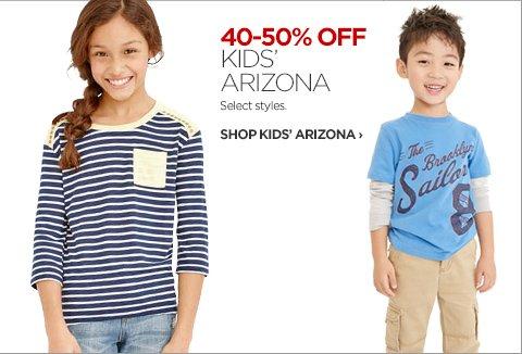 40-50% OFF KIDS' ARIZONA. Select Styles.          SHOP KIDS ARIZONA ›