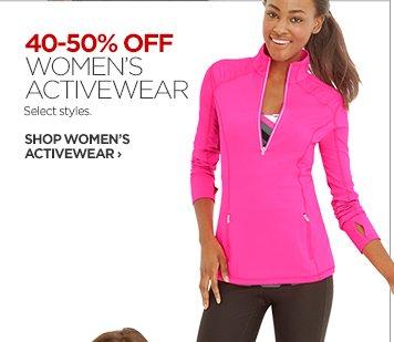 40-50% OFF WOMEN'S ACTIVEWEAR. Select styles.           SHOP WOMEN'S ACTIVEWEAR ›