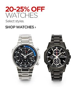 20-25% OFF WATCHES.Select Styles.                      SHOP WATCHES ›