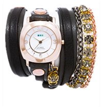 Astoria Black Diamond Crystal Wrap Watch