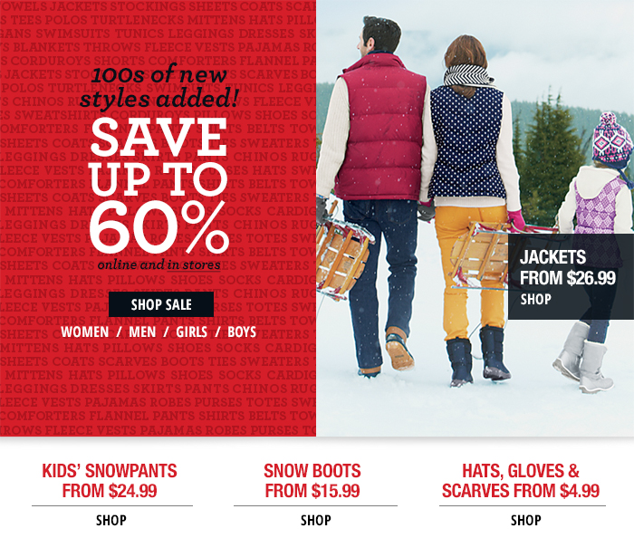 new! Winter savings up to 60% off