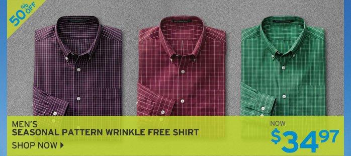 Shop Men's Seasonal Pattern Wrinkle Free Shirt
